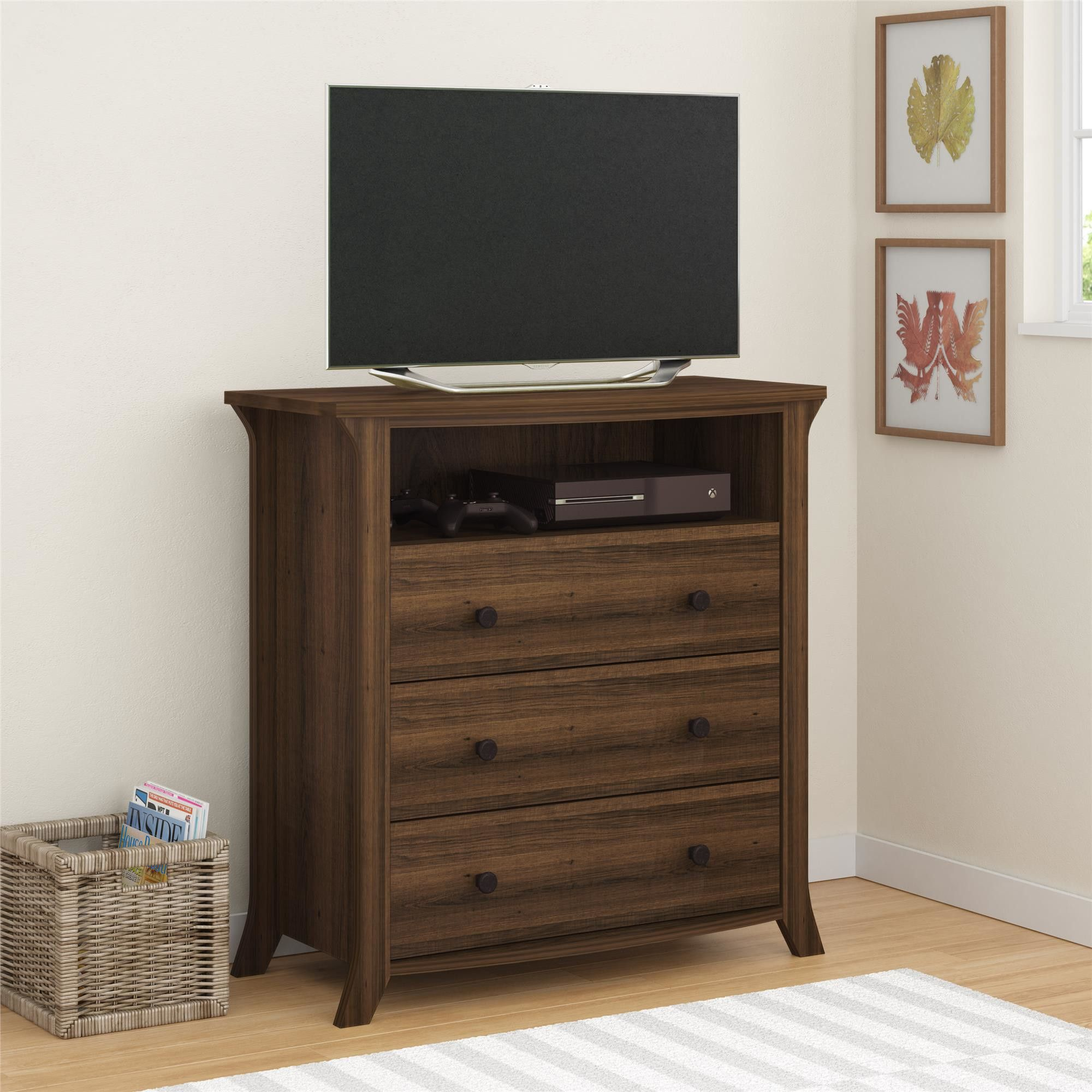 Altra Furniture Oakridge Drawer Media Chest Valley Stream Home - Oakridge bedroom furniture