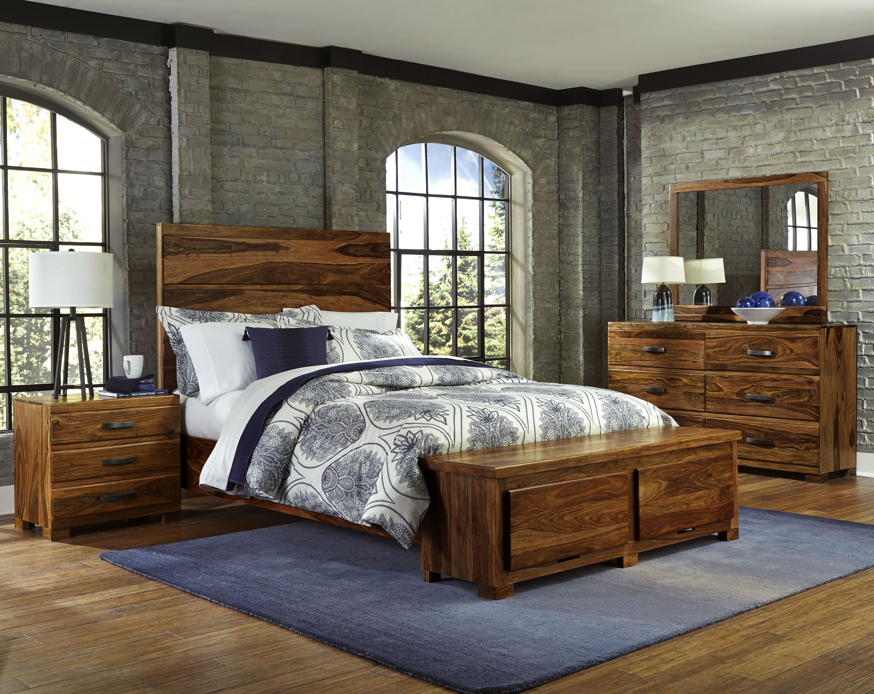Madera piece storage bedroom set queen by hillsdale lodge chic