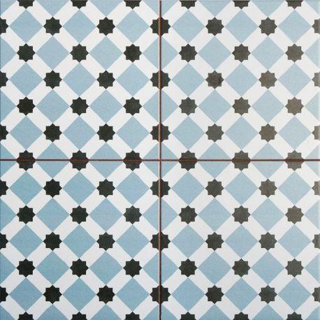 Carrelage imitation carreau ciment sol 45 x 45 cm - HE1105007 | Bath ...