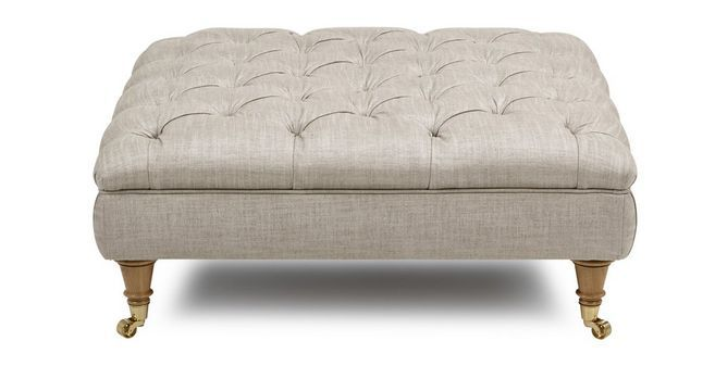Loch Leven Plain Large Button Footstool Armchairs For Sale
