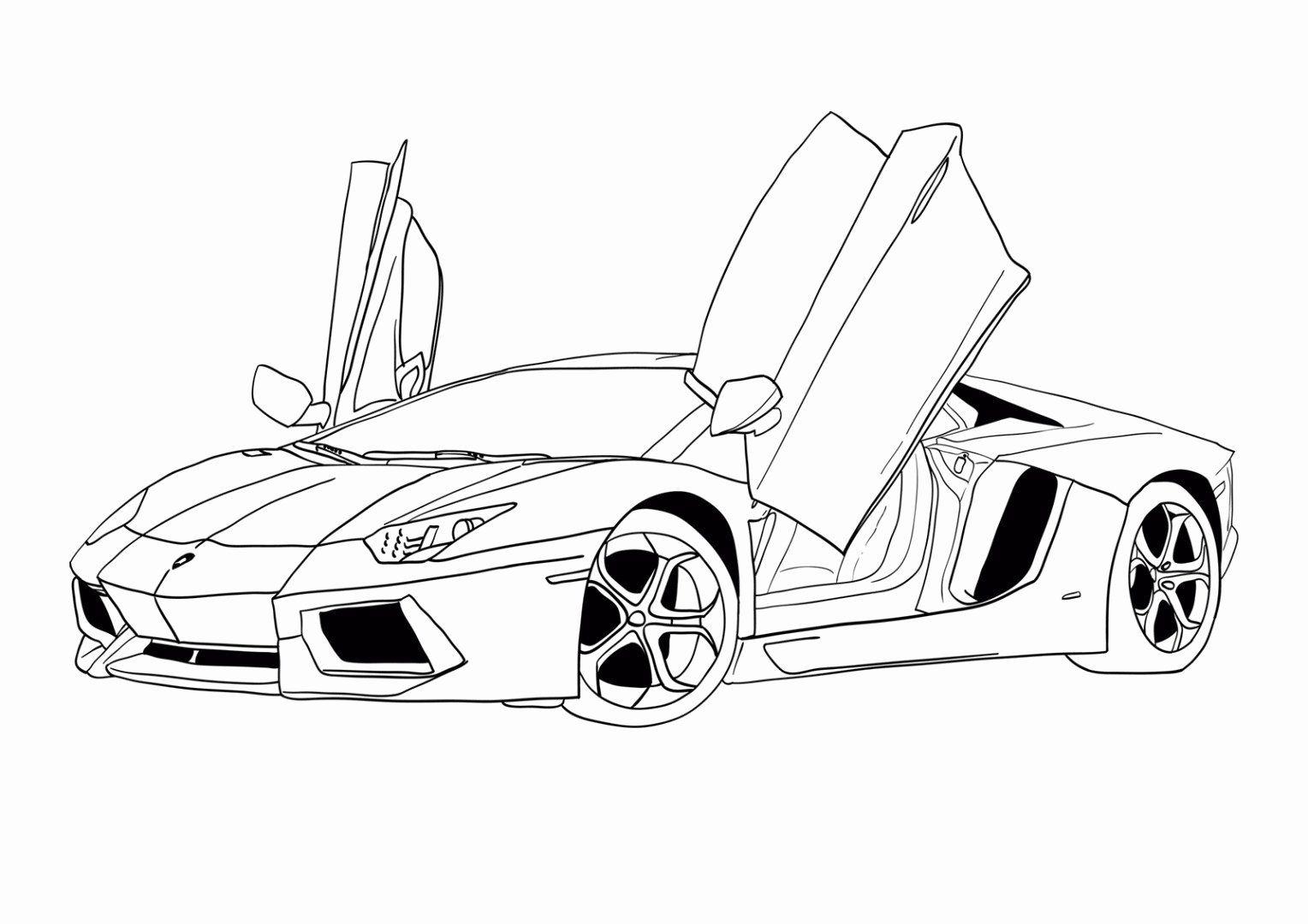 Coloring Book Sports Car Lovely 71 Lamborghini Aventador Ausmalbilder Cars Coloring Pages Truck Coloring Pages Race Car Coloring Pages