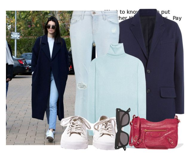 """Get the Look - Kendall Jenner..."" by hattie4palmerstone ❤ liked on Polyvore featuring AMI, Current/Elliott, Balenciaga, Converse, Gucci, women's clothing, women, female, woman and misses"