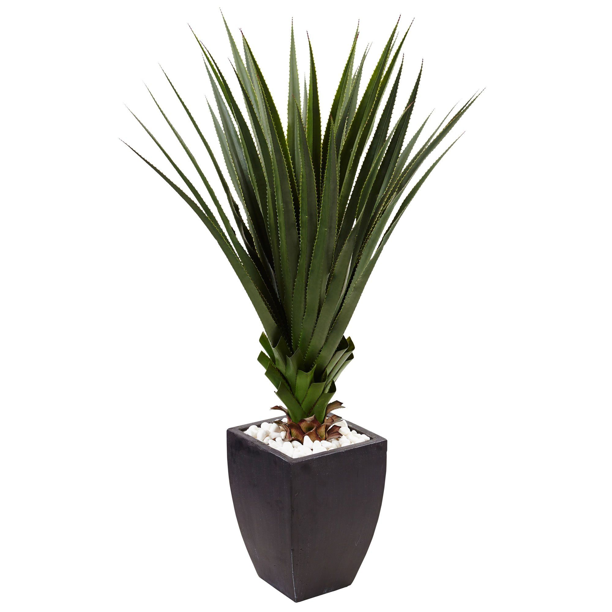 Standing Over Four Feet Tall This Spiked Agave In A Planter Will Make A Dramatic Statement Artificial Plants Outdoor Artificial Plants Small Artificial Plants