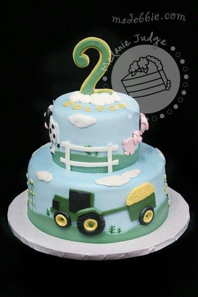 Fur Kleine Jungs Traktor Kuchen Bauernhoftorte Kuchen Ideen