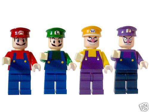 Custom LEGO Super Mario Character Waluigi