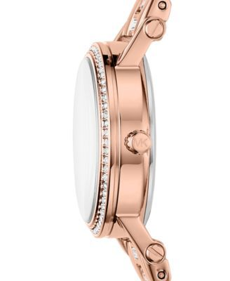 68c8f3f3d86b Michael Kors Women s Petite Norie Rose Gold-Tone Stainless Steel Bracelet  Watch 28mm - Gold