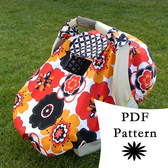"""Fitted Car Seat Canopy Pattern - way better for those """"windy days"""" when the other type of cover does nothing."""