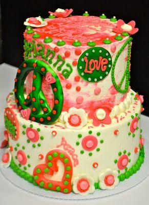 Astounding Peace Sign Birthday Cake With Images Cake Peace Sign Birthday Personalised Birthday Cards Cominlily Jamesorg