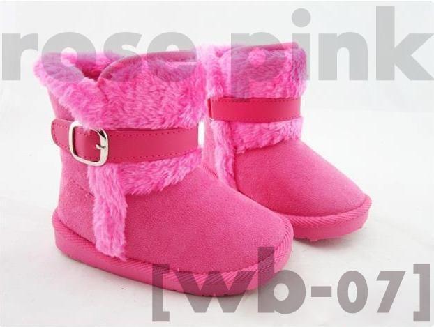 Sepatu Boots Anak Wb 07 Rose Fur Belt Available Size Sz 24