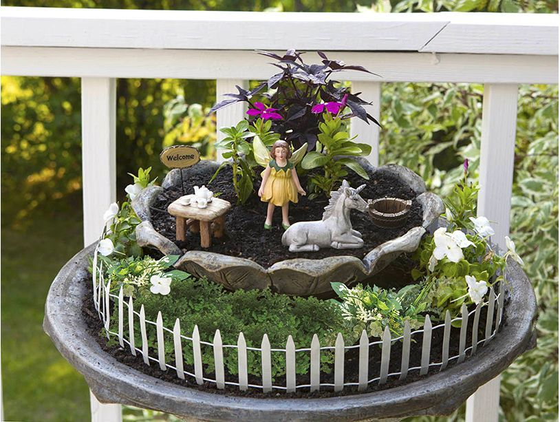 Enchanted Garden 6 Piece Fairy Kit Fairy Garden Crafts Fairy
