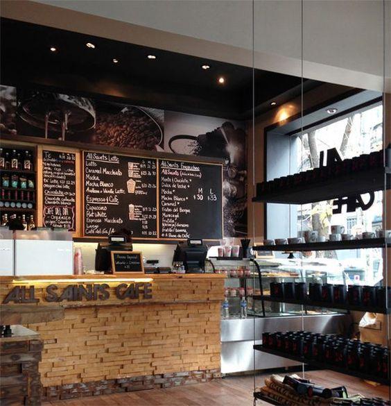 Planos de cafeterias peque as modernas buscar con google for Diseno de interiores cafeterias pequenas