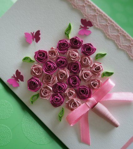 Quilling ideas patterns  valentine  day card roses also rh in pinterest