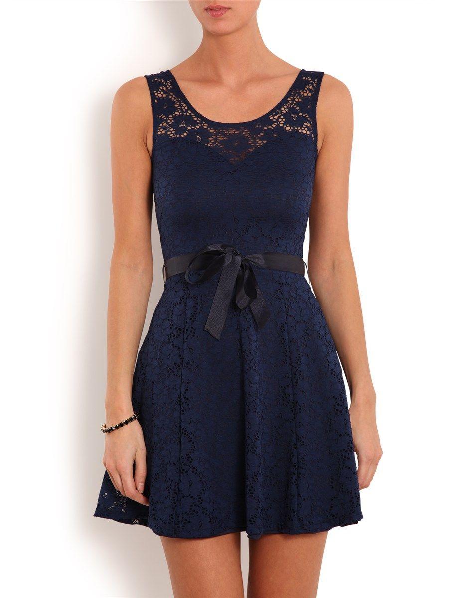 robe bleue dentelle morgan. Black Bedroom Furniture Sets. Home Design Ideas