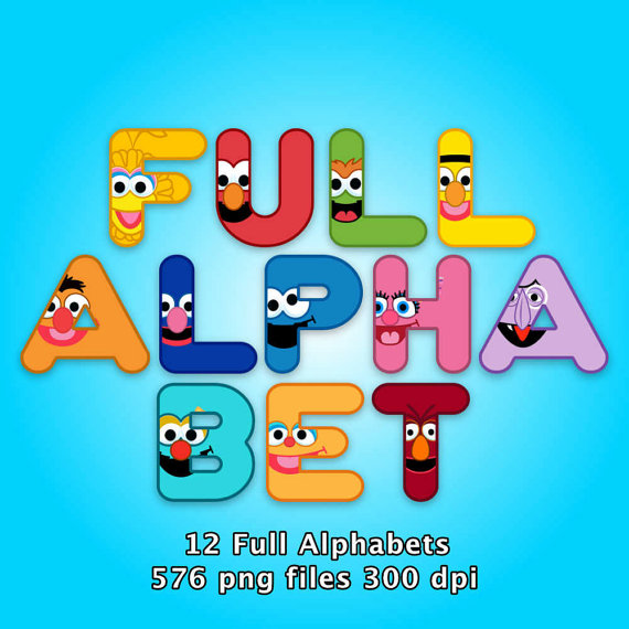 Sesame Street Alphabet Clipart 576 Png Files By Partypackpaper