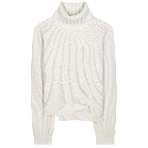 Proenza Schouler Wool and Cashmere-Blend Turtleneck Sweater (6.165 NOK) ❤ liked on Polyvore