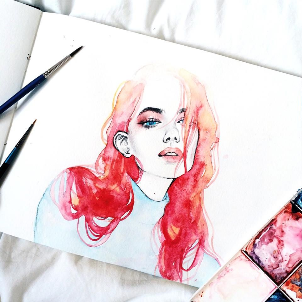 Pinterest Tboolin Art Watercolor Art Cute Art