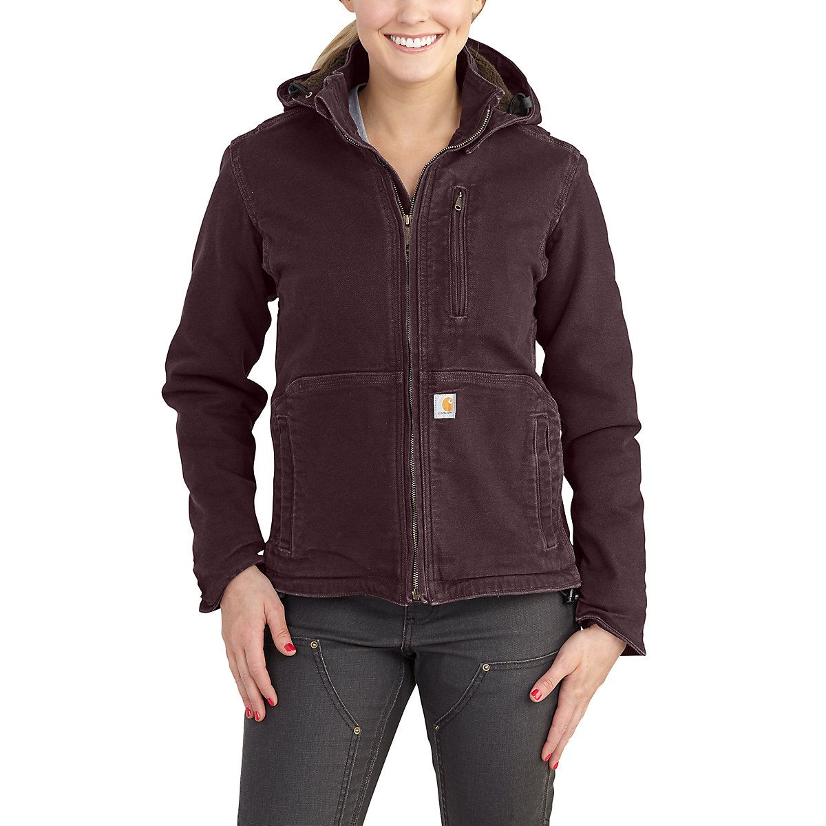 Women S Heavyweight Sandstone Jacket That Gives You Maximum Range Of Movement Carhartt Women Duck Jacket Carhartt [ 1200 x 1200 Pixel ]