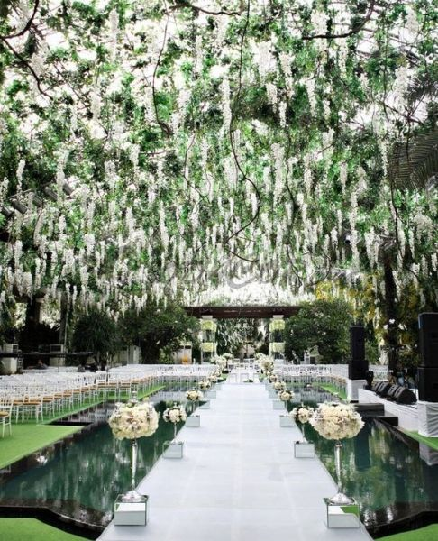 decoración de jardin boda Ideas para boda Pinterest - jardines navideos