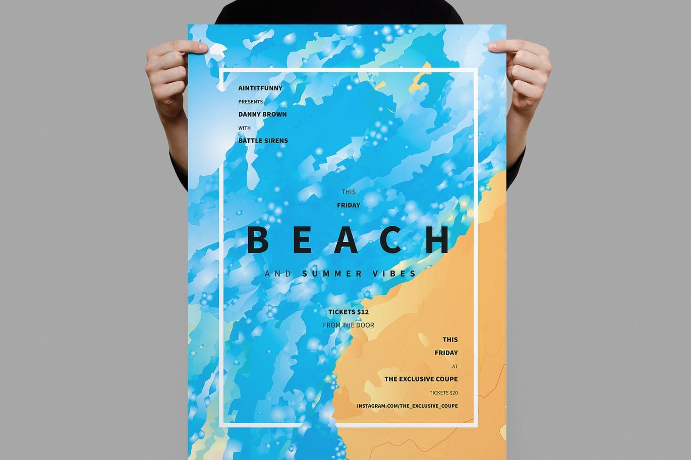 Beach Summer Flyer  Poster Template Psd A  Poster Templates