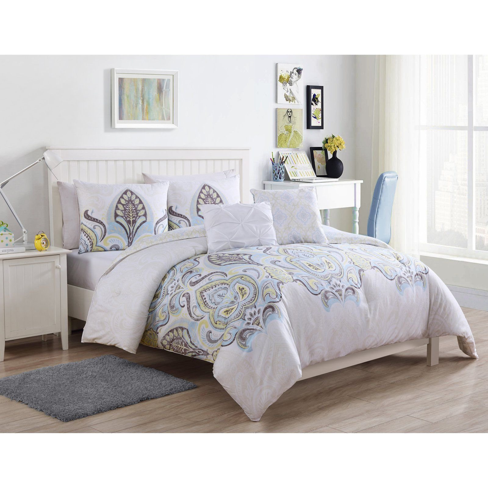 Shazia Comforter Set By Vcny Size Twin Comforter Sets