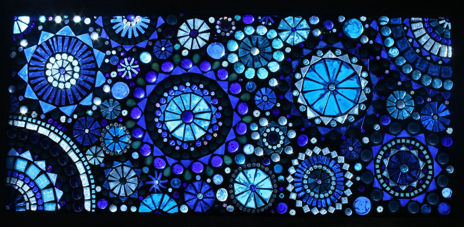Large Beautiful Glass On Glass Mosaic Window Panel Diy