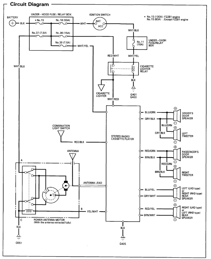 1995 Honda Civic Radio Wiring Diagram Box Wiring Diagram