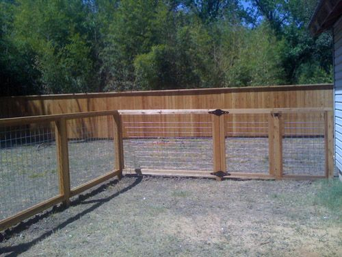 Wood and Wire Fence | Dog Run | Pinterest | Wire fence, Fences and Woods