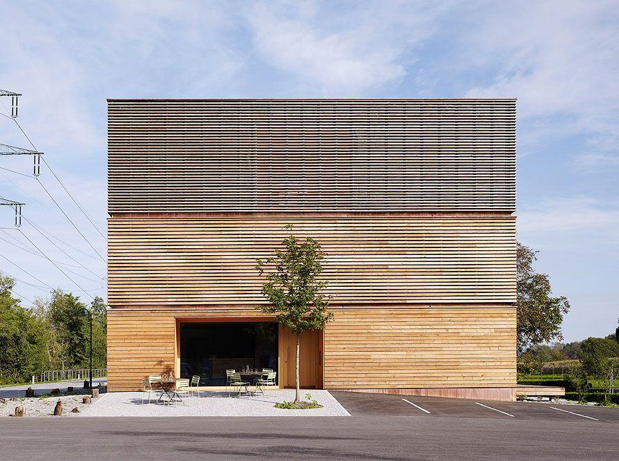 Haus f r sauna massage u therapie koblach architektur bernardo bader dornbirn - Sauna architektur ...