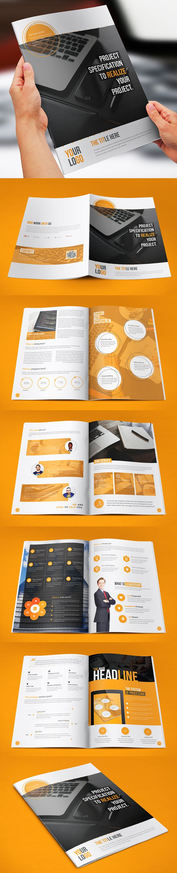 Corporate BiFold Brochure  Brochure  Flyer Designs