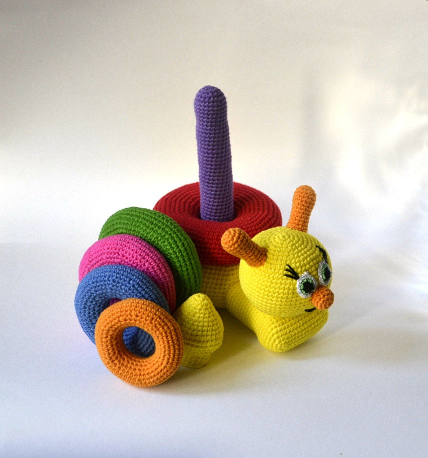 Snail stacker Montessori baby toys for one year old ...