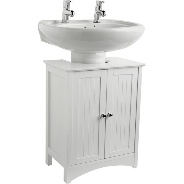 Photos Of Buy WOW HOME Tongue and Groove Under Sink Storage Unit White at Argos co