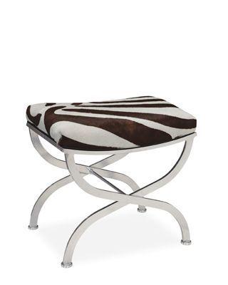 @Lee Industries #Upholstered #ottoman in #zebra print