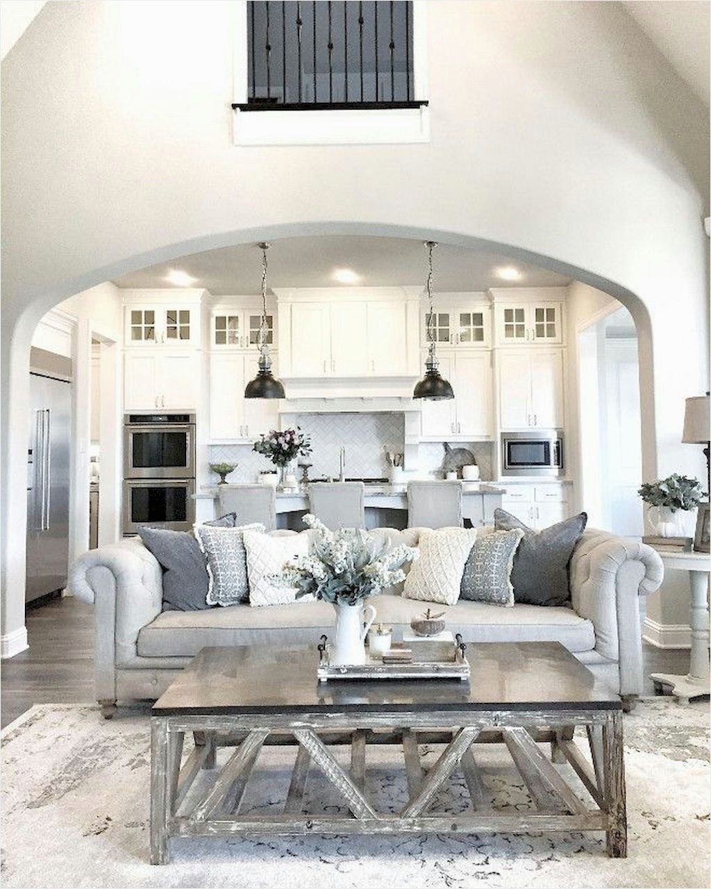 Farmhouse living room decorating ideas also rh pinterest
