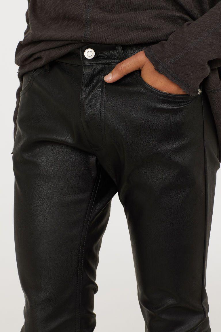 9937ff7382 Műbőr nadrág | SLOANE | Faux leather pants, Leather Pants és Mens ...
