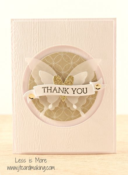 Vellum and Gold Butterfly by joy131275 - Cards and Paper Crafts at Splitcoaststampers