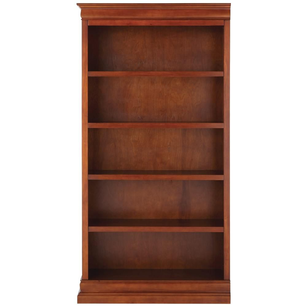 Home Decorators Collection 73 In Sequoia Wood 5 Shelf Standard Bookcase With Adjustable Shelves 9716000970 Bookcase Adjustable Shelving Open Bookcase