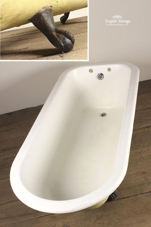 Salvaged Cast Iron Roll Top Bath | Bathroom | Pinterest ...