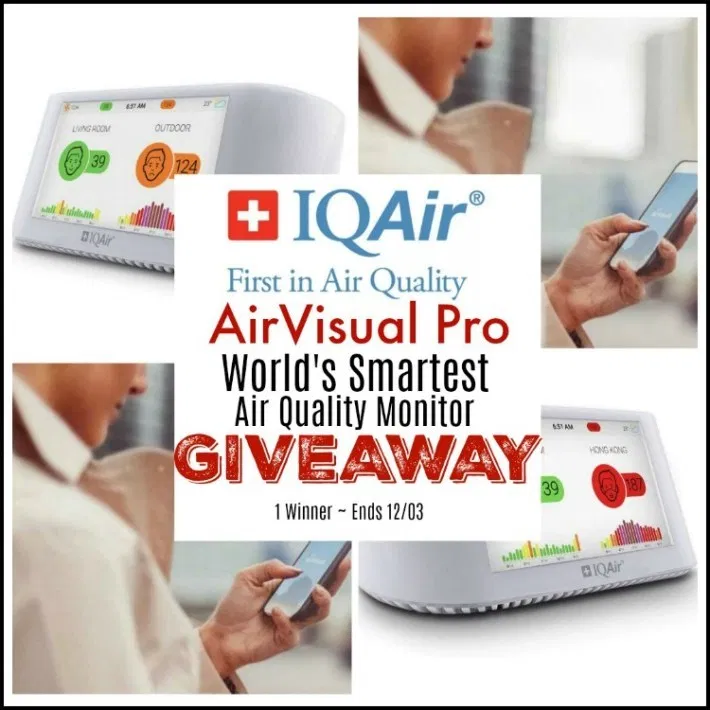IQAir AirVisual Pro World's Smartest Air Quality Monitor