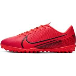 Nike Jr. Mercurial Vapor 13 Academy Tf Fußballschuh für Kunstrasen für jüngere/ältere Kinder - Rot N