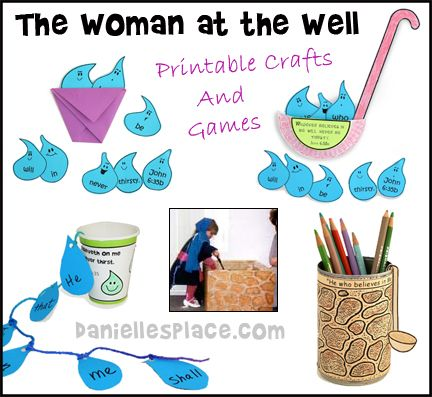 Women At The Well Crafts And Bible Verse Review Games And