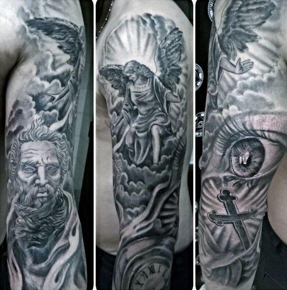 Religious Angel Tattoos For Men Angel And God Religiou...