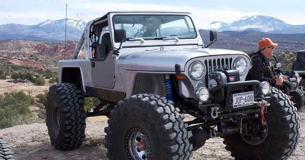 jeep scrambler - 1 ton axles, coil overs and links, small block motor and really cool body work | See more about Jeeps, Link and Nice Body.
