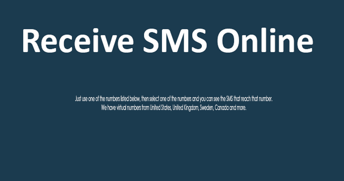 Receive SMS Online for FREE and with NO Registration, Verify