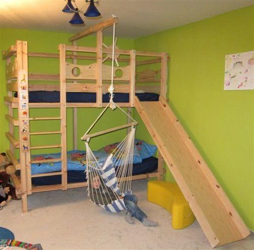 Hangesessel Am Bett Etagenbett Mit Rutsche Kinderbett Etagenbett Hochbett Kinder