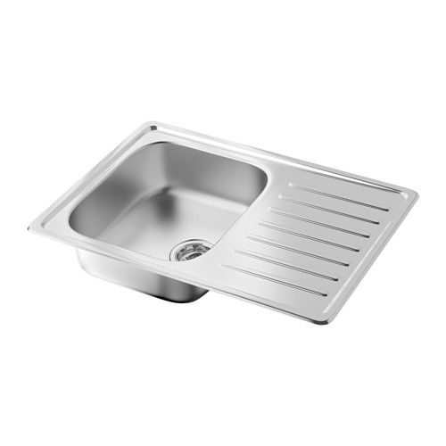FYNDIG 1 bowl inset sink with drainer IKEA Sink in stainless steel - fyndig k che ikea