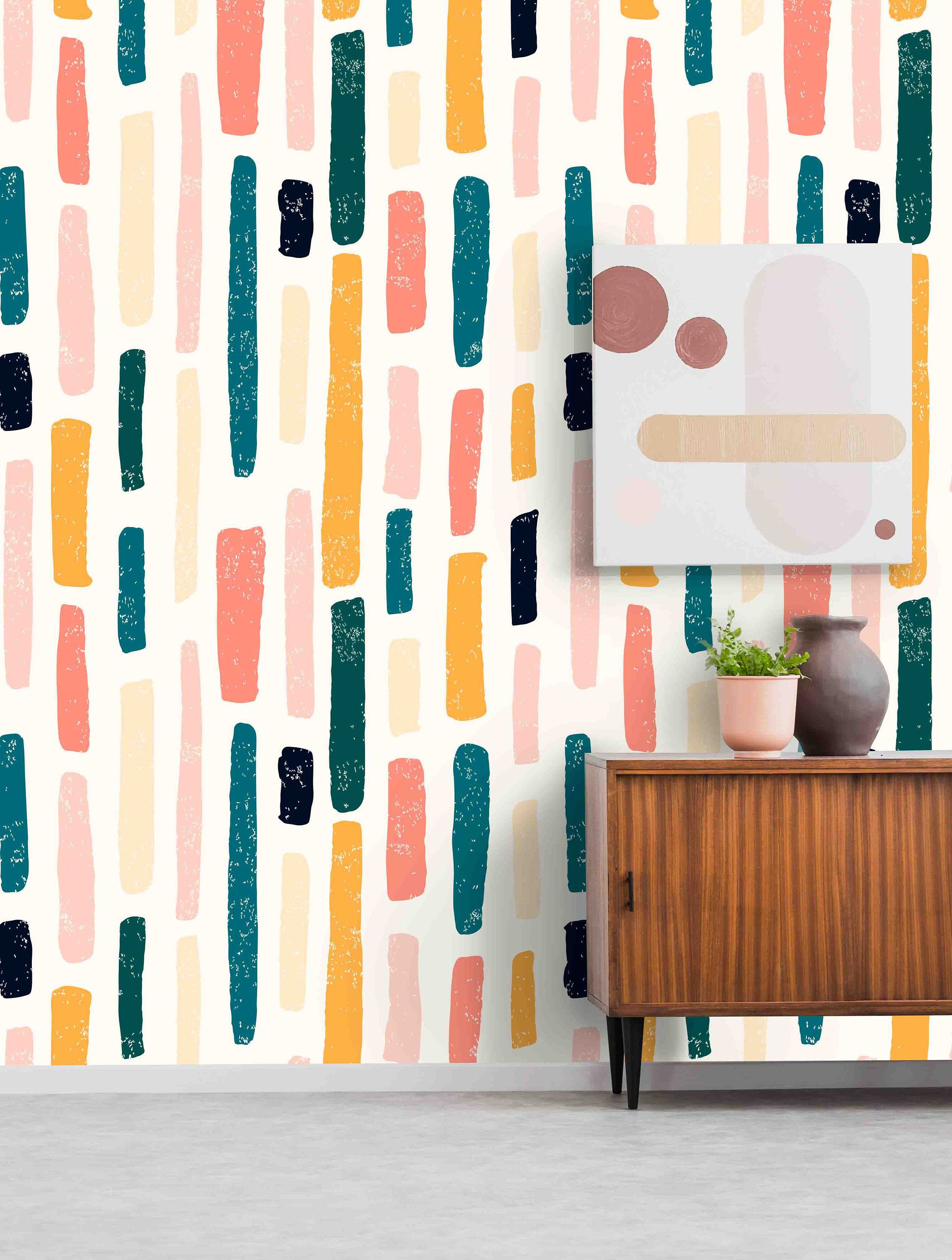 Striped Wallpaper Removable Self Adhesive Wall Covering