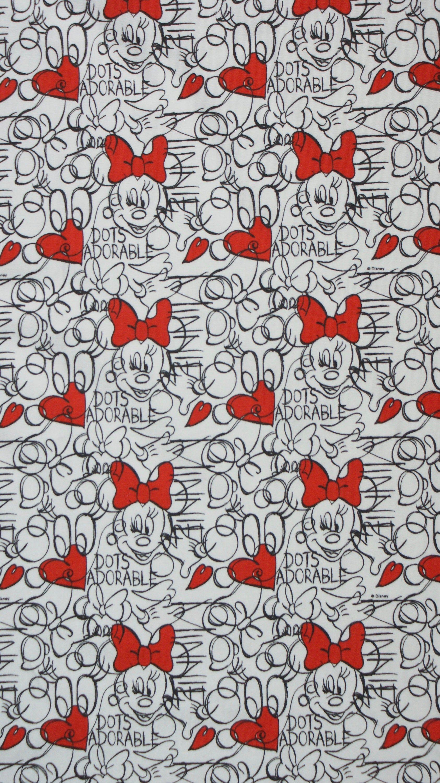 Disney Kinderstoff Baumwollstoff weiß Mickey /& Minnie Mouse Kids