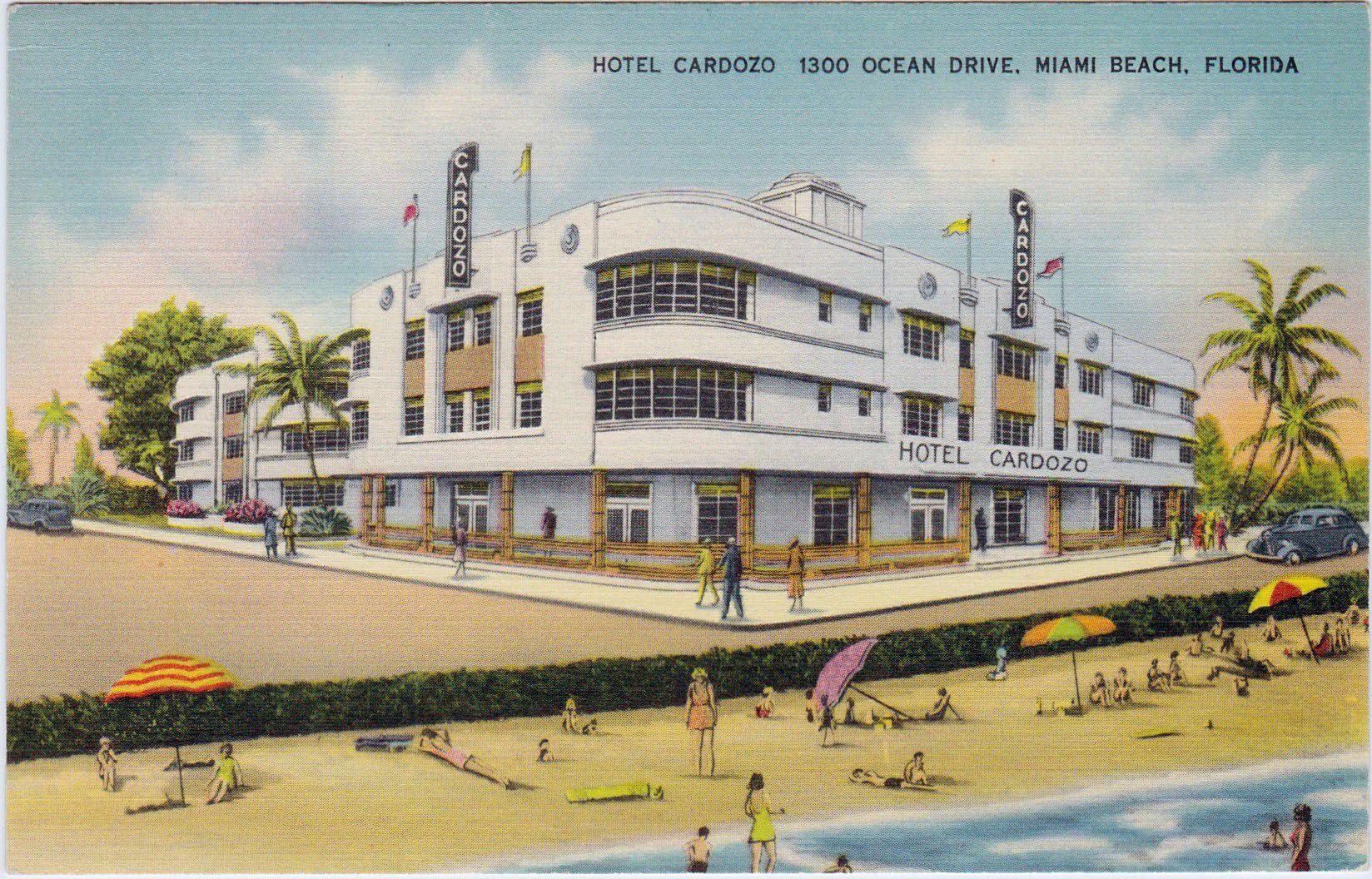 Cardozo Hotel 1300 Ocean Drive Ca 1930 S 1940 Accent On Service