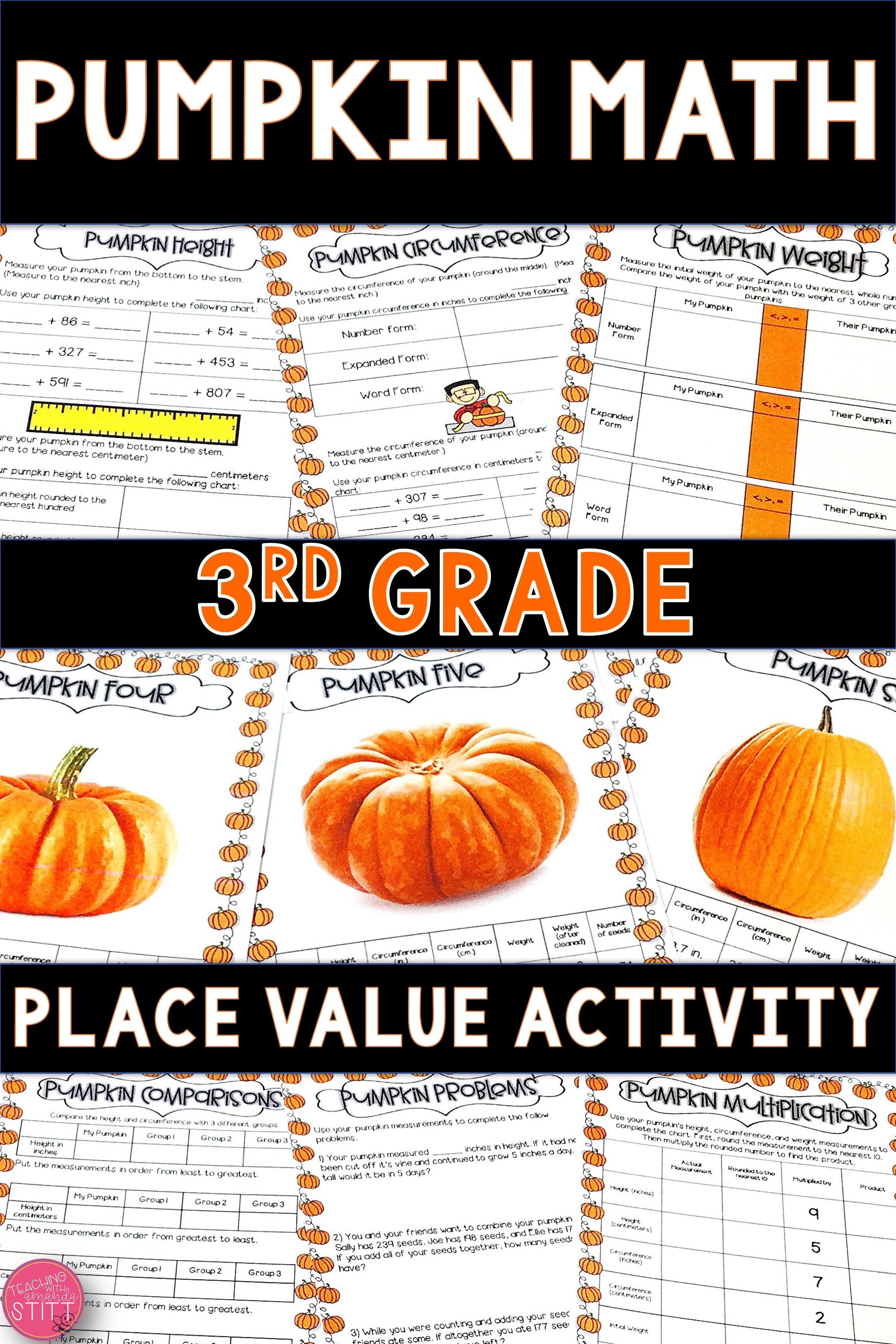 2nd Grade Math Worksheet Subtraction Autumn