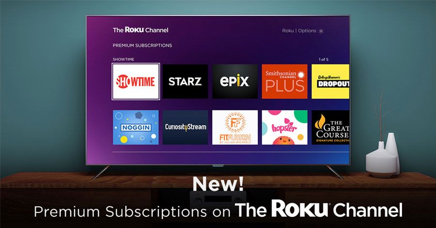 The Roku Channel adds premium video subscriptions